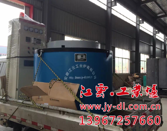 Rotor die casting crucible furnace